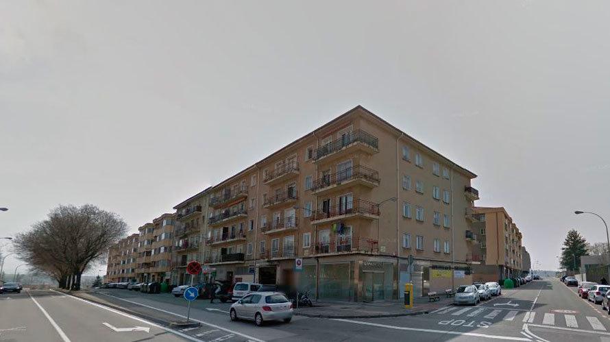 Imágen de unas viviendas en el barrio pamplonés de Echavacoiz.