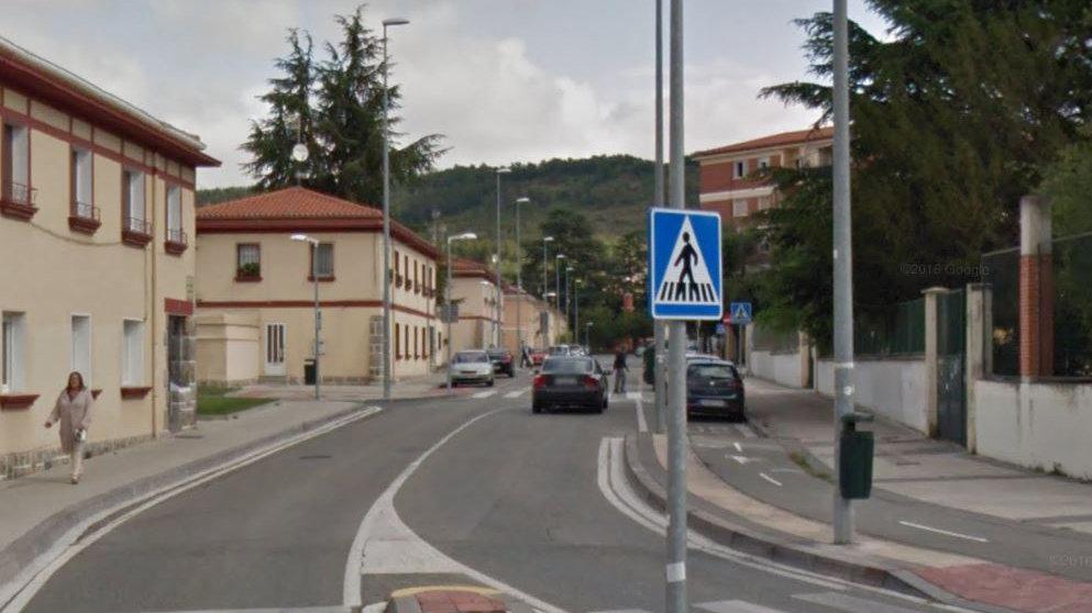 Calle Ezcaba en el barrio pamplonés de la Chantrea.