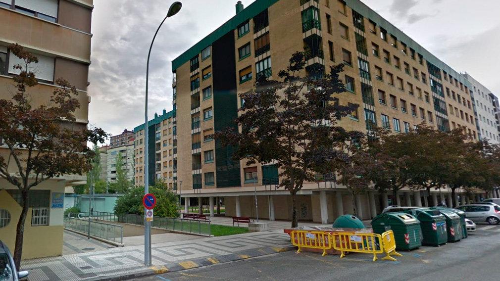 Calle Pedro I, en el barrio pamplonés de Iturrama.