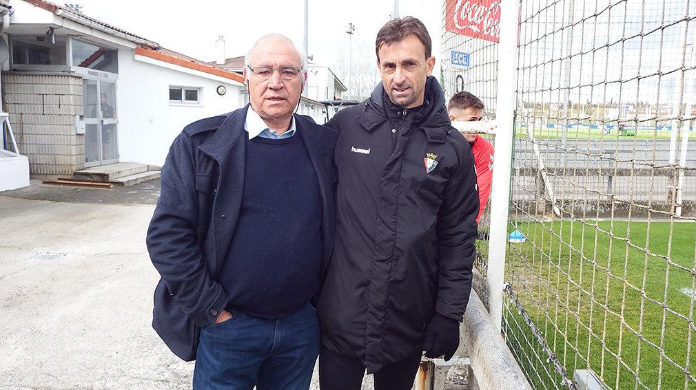Sánchez Rubio junto a Santiago Castillejo en Tajonar. Navarra.com