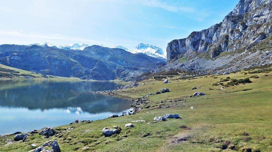 Paisaje de los lagos de Covadonga