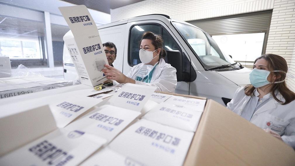 VÍDEO.- 'Los malos tiempos traen verdaderos amigos': así preparó China la donación de material de protección a Navarra
