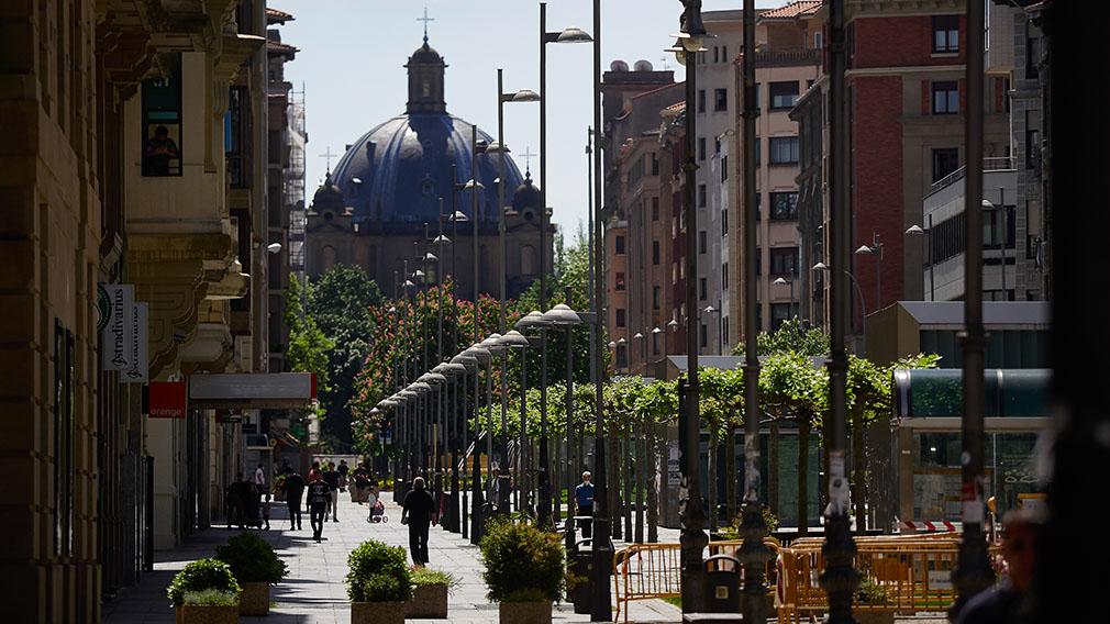 Avenida Carlos III de Pamplona.
