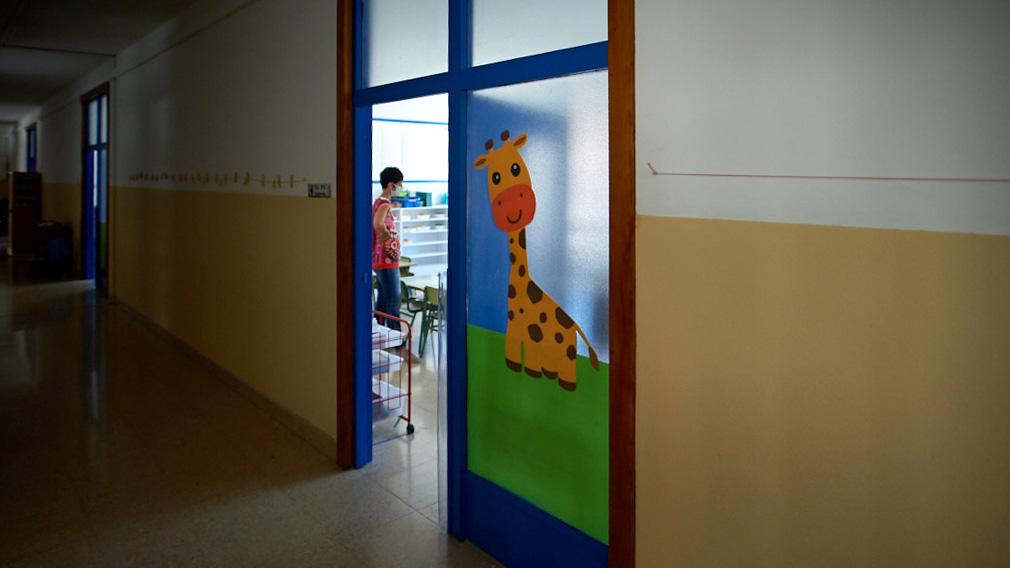 GALERÍA.- Las medidas de seguridad implementadas por este centro escolar navarro para acoger de nuevo a sus alumnos