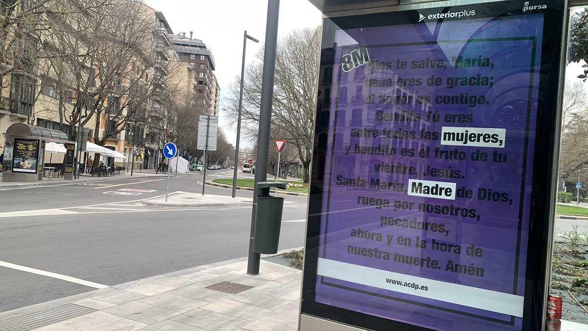 La publicidad de Pamplona que solivianta a Podemos