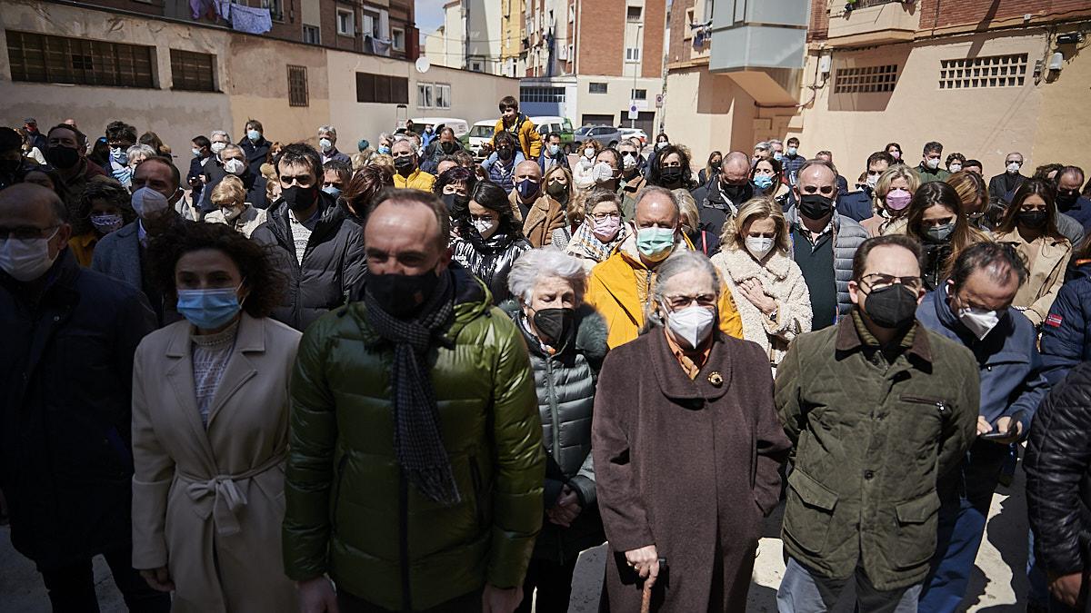 [GALERÍA] Multitudinario homenaje al edil de UPN, Tomás Caballero, asesinado por ETA en Pamplona