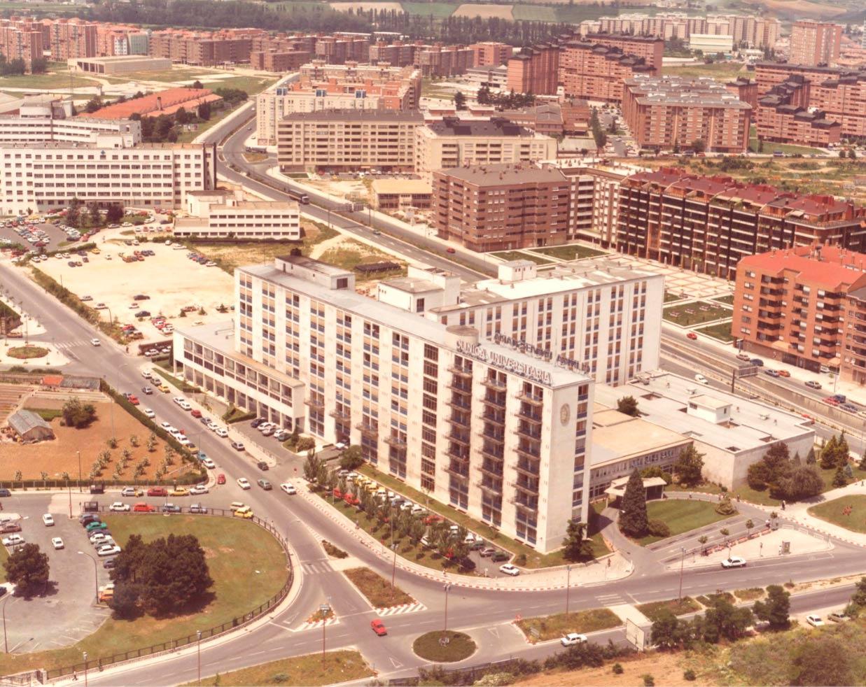 (1984) Vista aérea de la Clínica Universidad de Navarra.