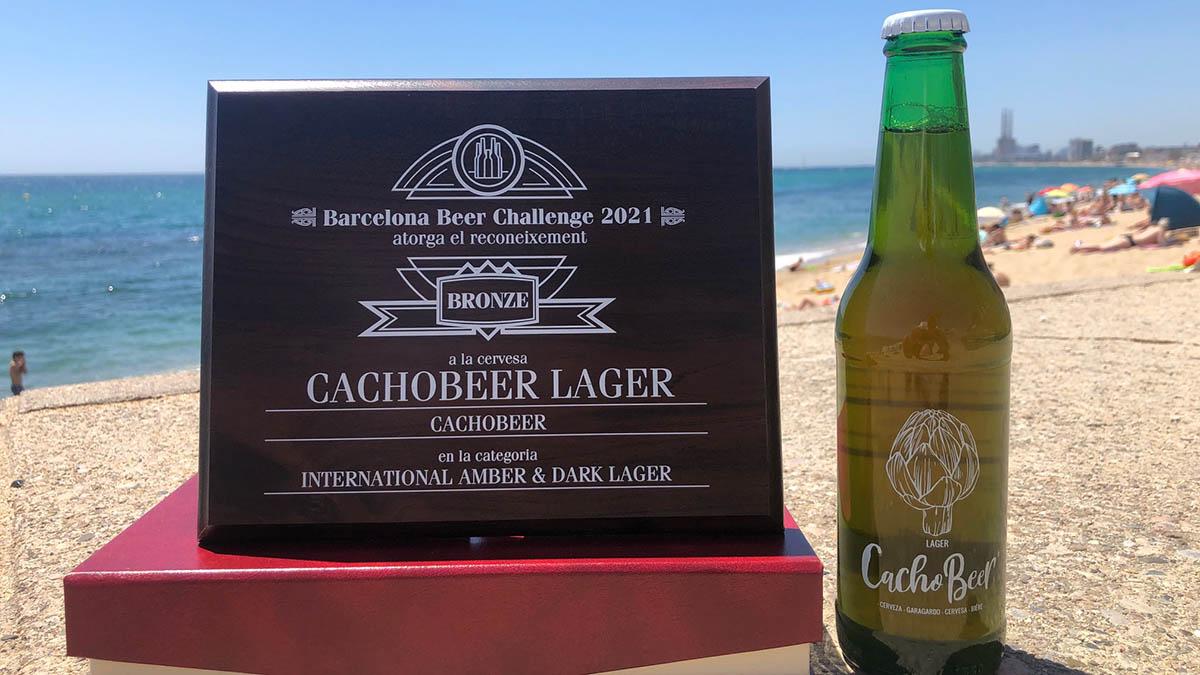 Reconocimiento a la cerveza CachoBeer del Barcelona Beer Challenge 2021.