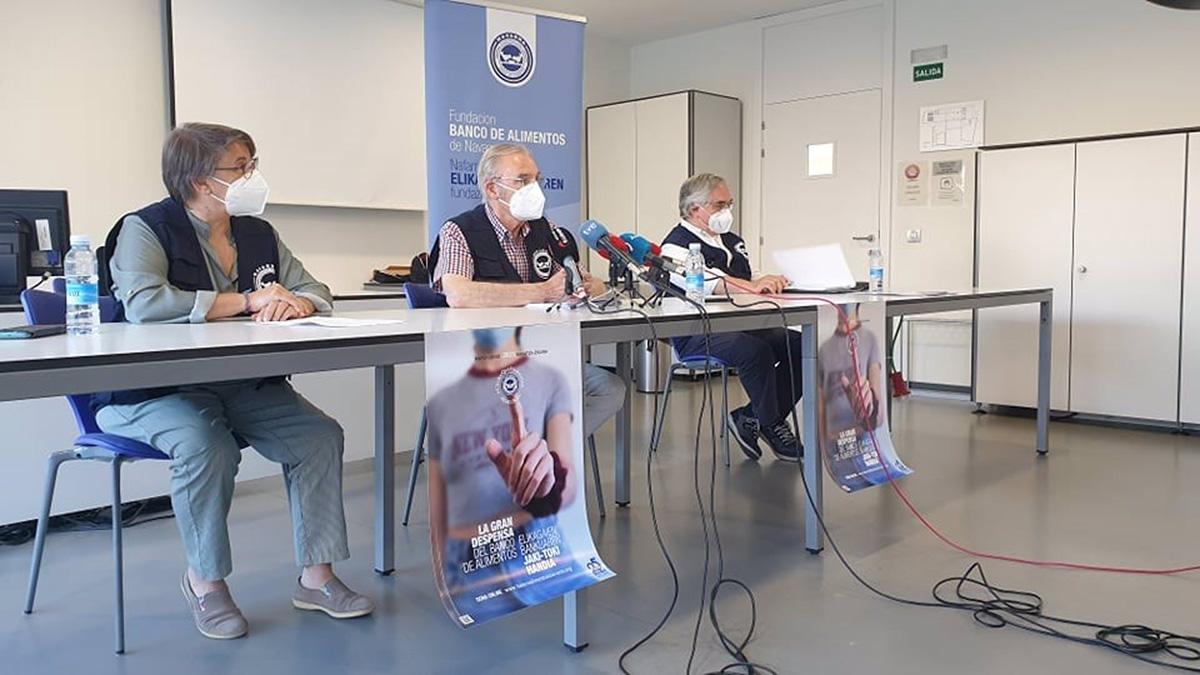 Rueda de prensa de la Fundación Banco de Alimentos de Navarra. BANCO DE ALIMENTOS DE NAVARRA