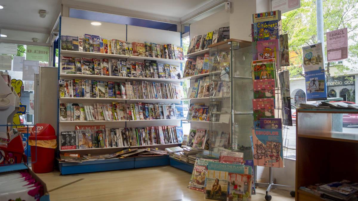 Área de prensa de la tienda 'Mundo Juegos' situada en la Travesia San Juan Bosco de Pamplona. MEGAN WALLS