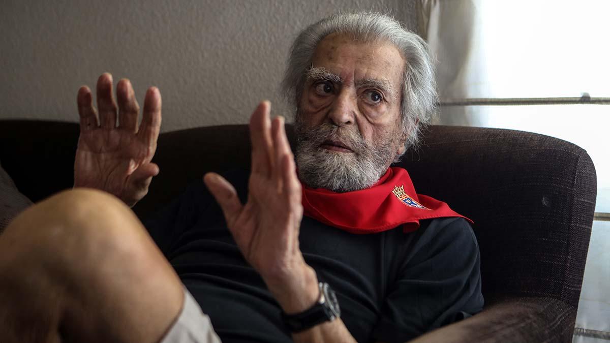 Ramón Masats, durante la entrevista en su estudio de Madrid concedida a este periódico.
