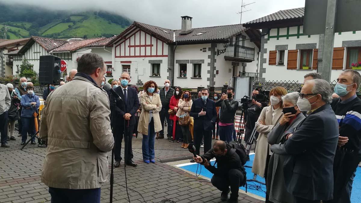 Homenaje en Leiza a José Javier Múgica en el 20 aniversario de su asesinato a manos de la banda terrorista ETA.