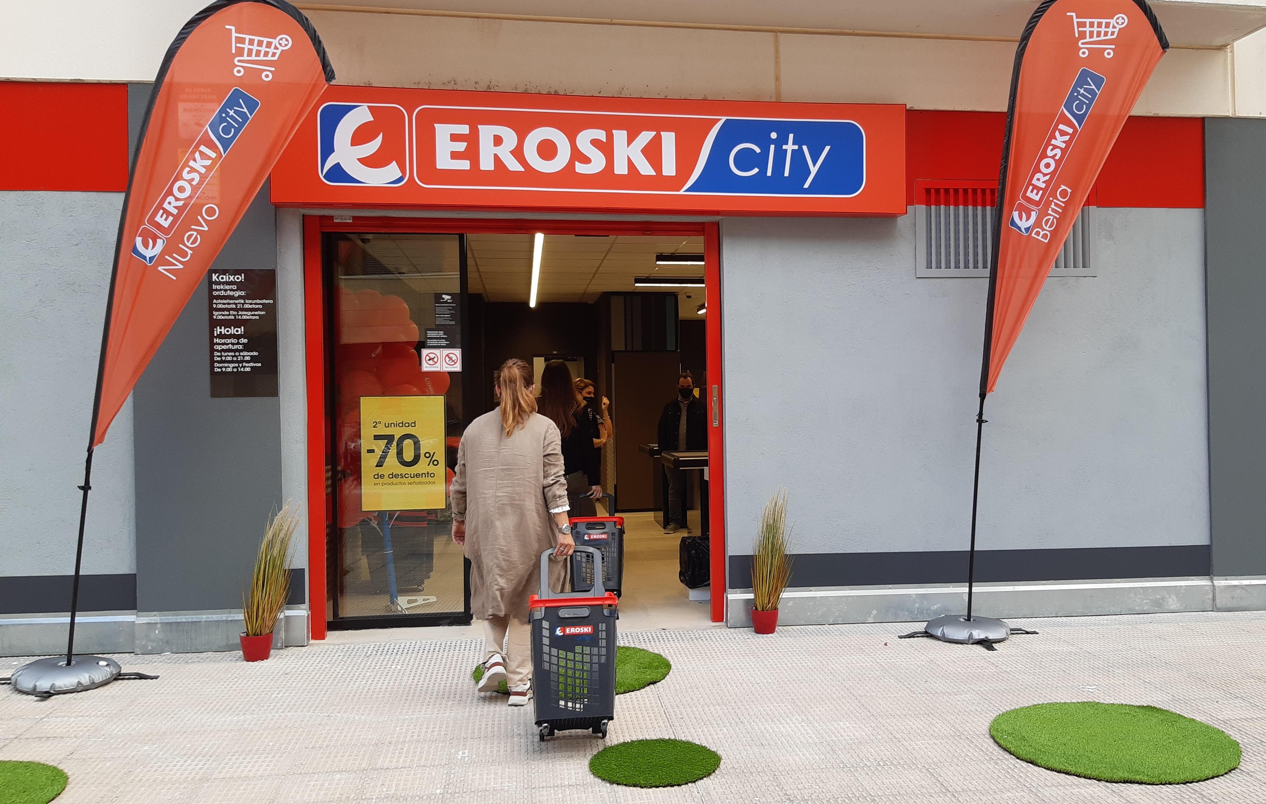 Nuevo Eroski abierto recientemente en Berriozar. EROSKI