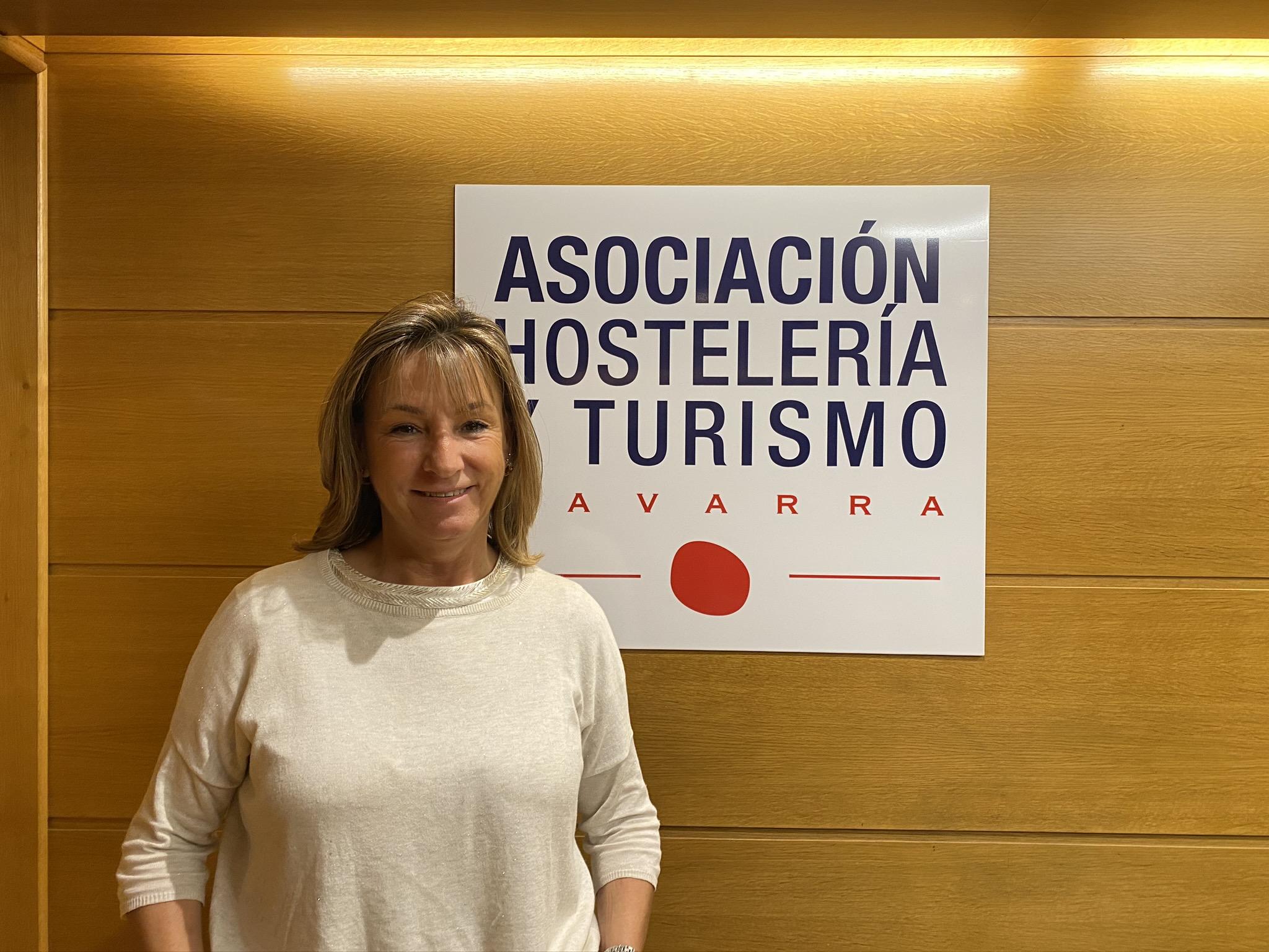 Ana Beriain, presidenta de la Asociación de Empresarios de Hostelería de Navarra. AEHN