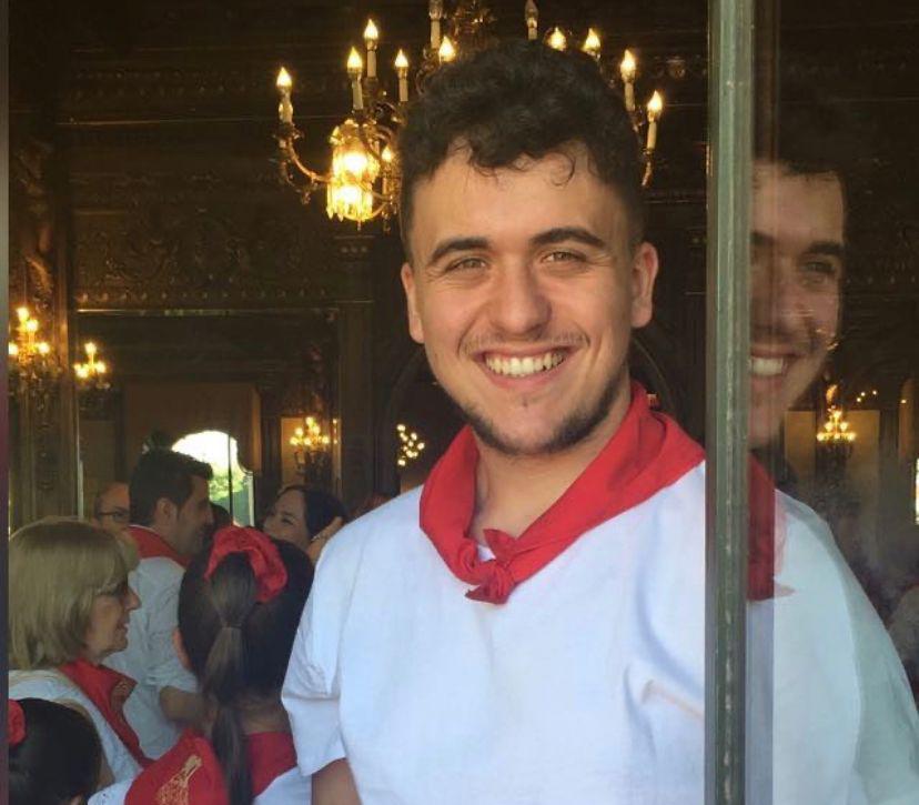 David del Brío sonriente durante las fiestas de San Fermín. ARCHIVO