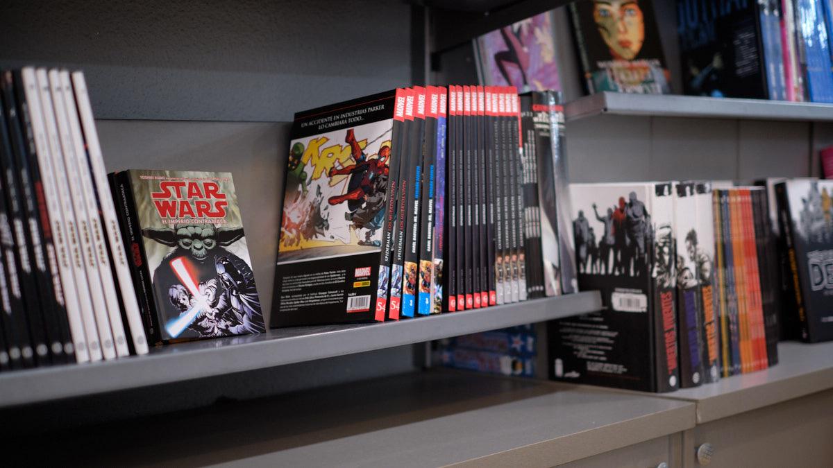 Tienda de Comics Pamplona en el barrio de Iturrama. MIGUEL OSÉS