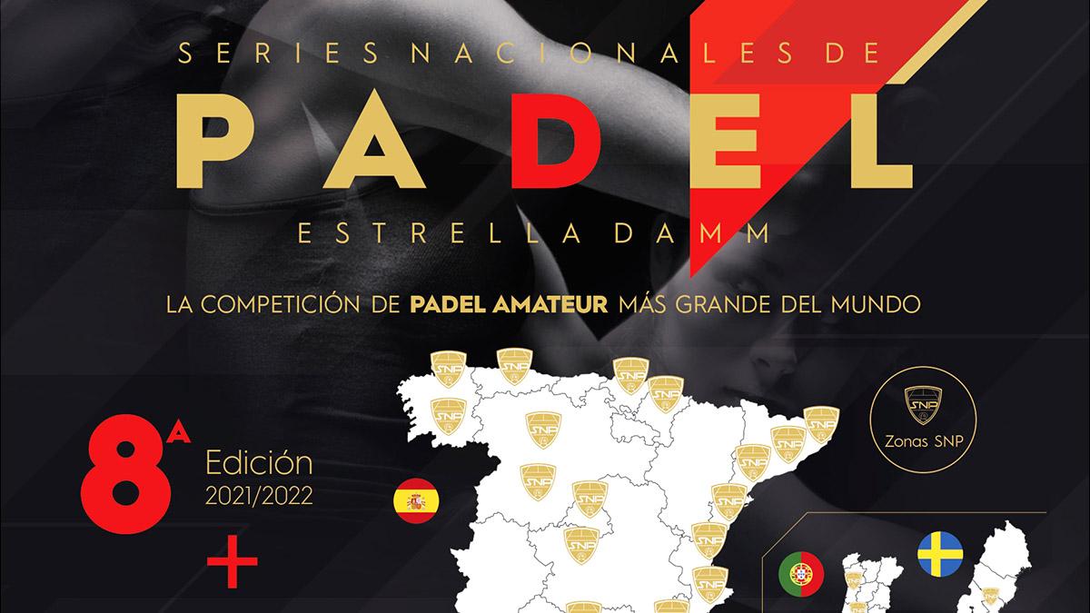 Cartel oficial de la Series Nacionales de Padel 2021-22. Cedida